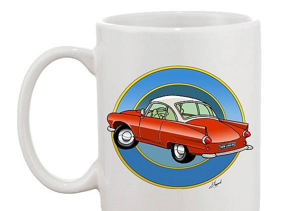 Auto Union 1000 SP mug blanc rondache foncée