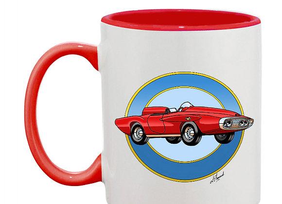 Plymouth XNR Ghia mug rouge rondache claire