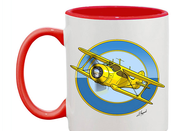 Staggerwing mug rouge rondache