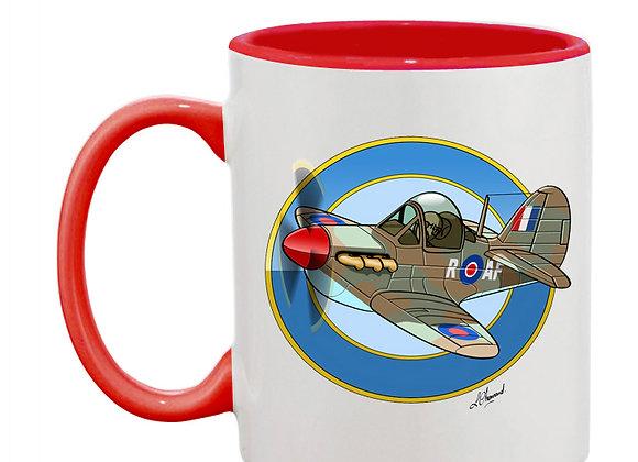 Spitfire MK1 mug rouge rondache