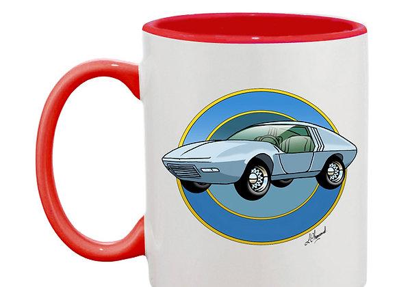 Oldsmobile Golden Rocket mug rouge rondache foncée