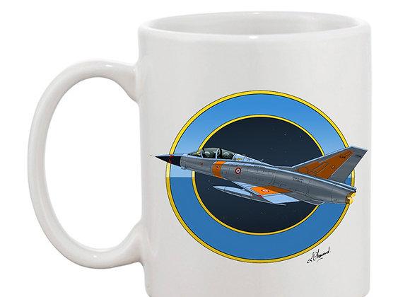 Mirage III mug blanc rondache nuit