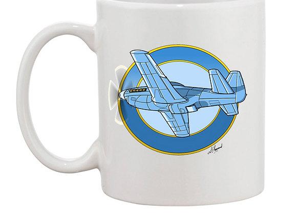 Mustang mug blanc rondache