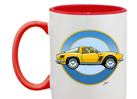 Iso Griffo mug rouge rondache claire