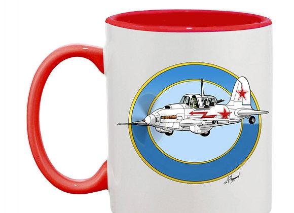 Sturmovik mug rouge blanc rondache