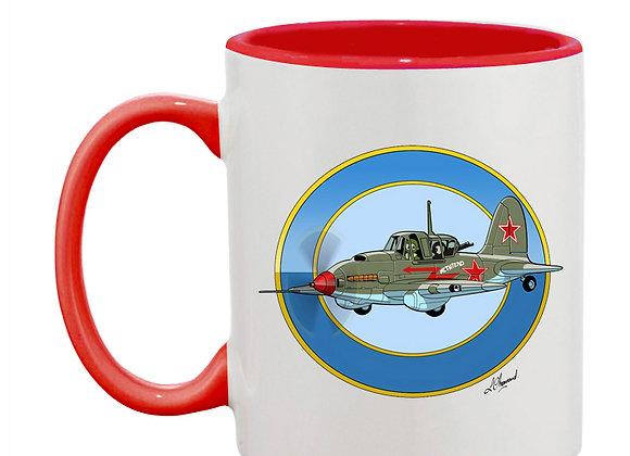 Sturmovik mug rouge vert rondache