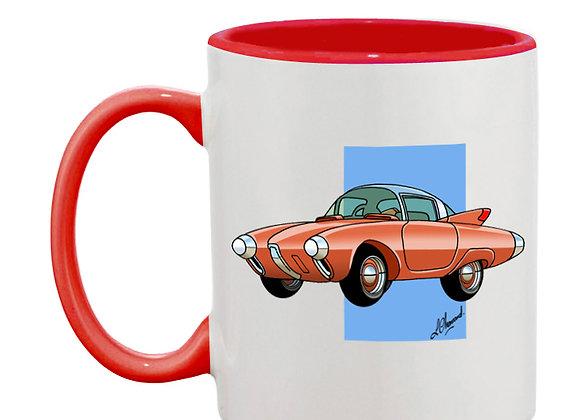 Oldsmobile Golden Rocket mug rouge carré bleu