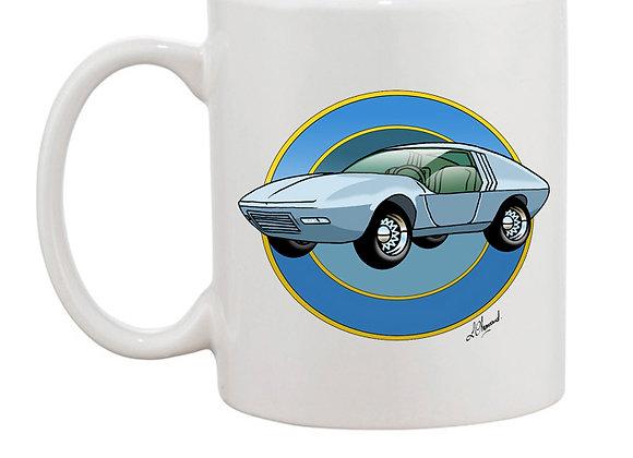 Opel CD concept car mug blanc rondache foncée