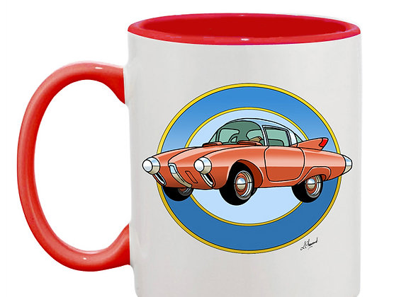 Oldsmobile Golden Rocket mug rouge rondache claire