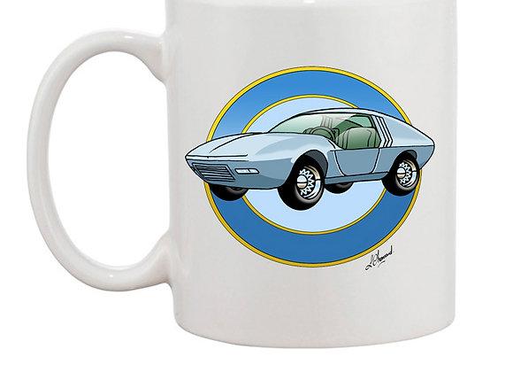 Opel CD concept car mug blanc rondache claire