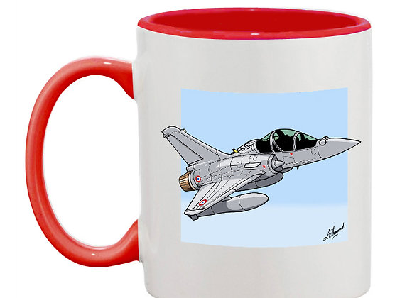 Mirage 2000 B 501 mug rouge carré bleu