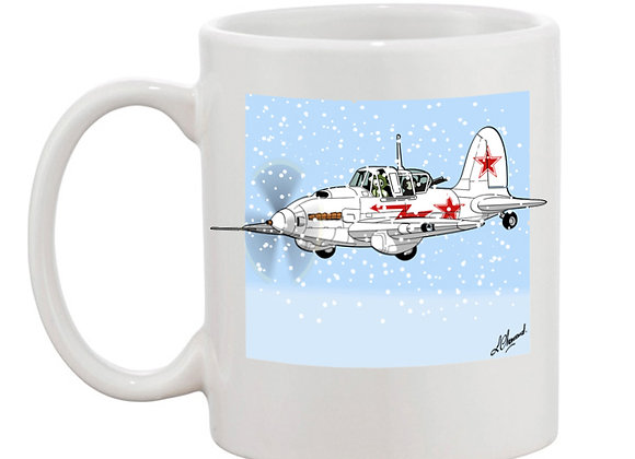 Sturmovik mug blanc blanc carré neige