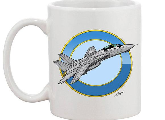 Grumman Tomcat mug blanc rondache