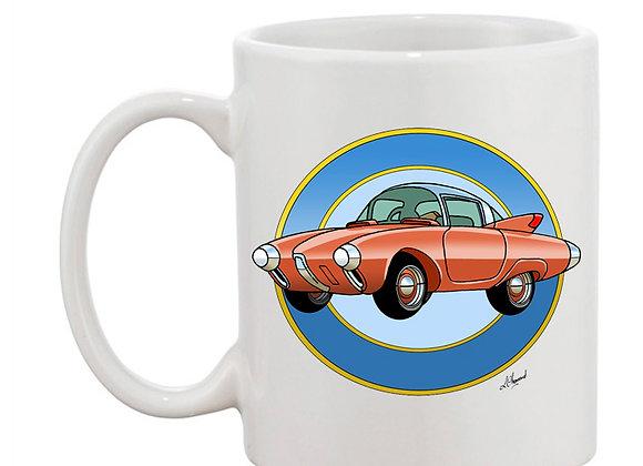 Oldsmobile Golden Rocket mug blanc rondache claire