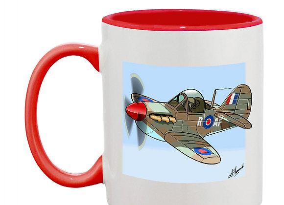Spitfire MK1 mug rouge carré bleu