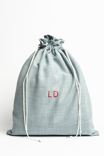 Linen Wash Bag - Embroidery