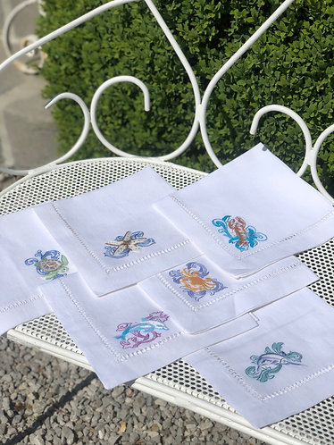 Sea Napkins set of 6
