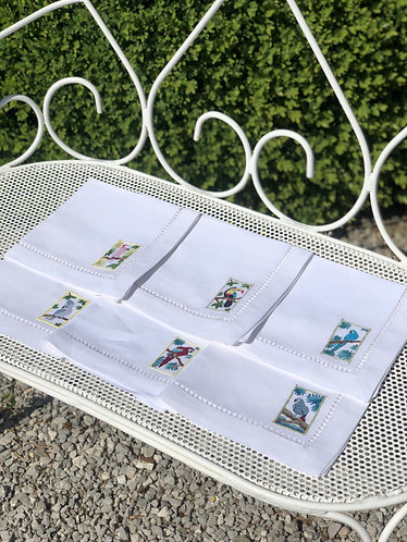 Parrots Napkins set of 6
