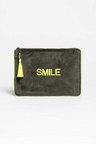 Clutch Velvet Bag Smile
