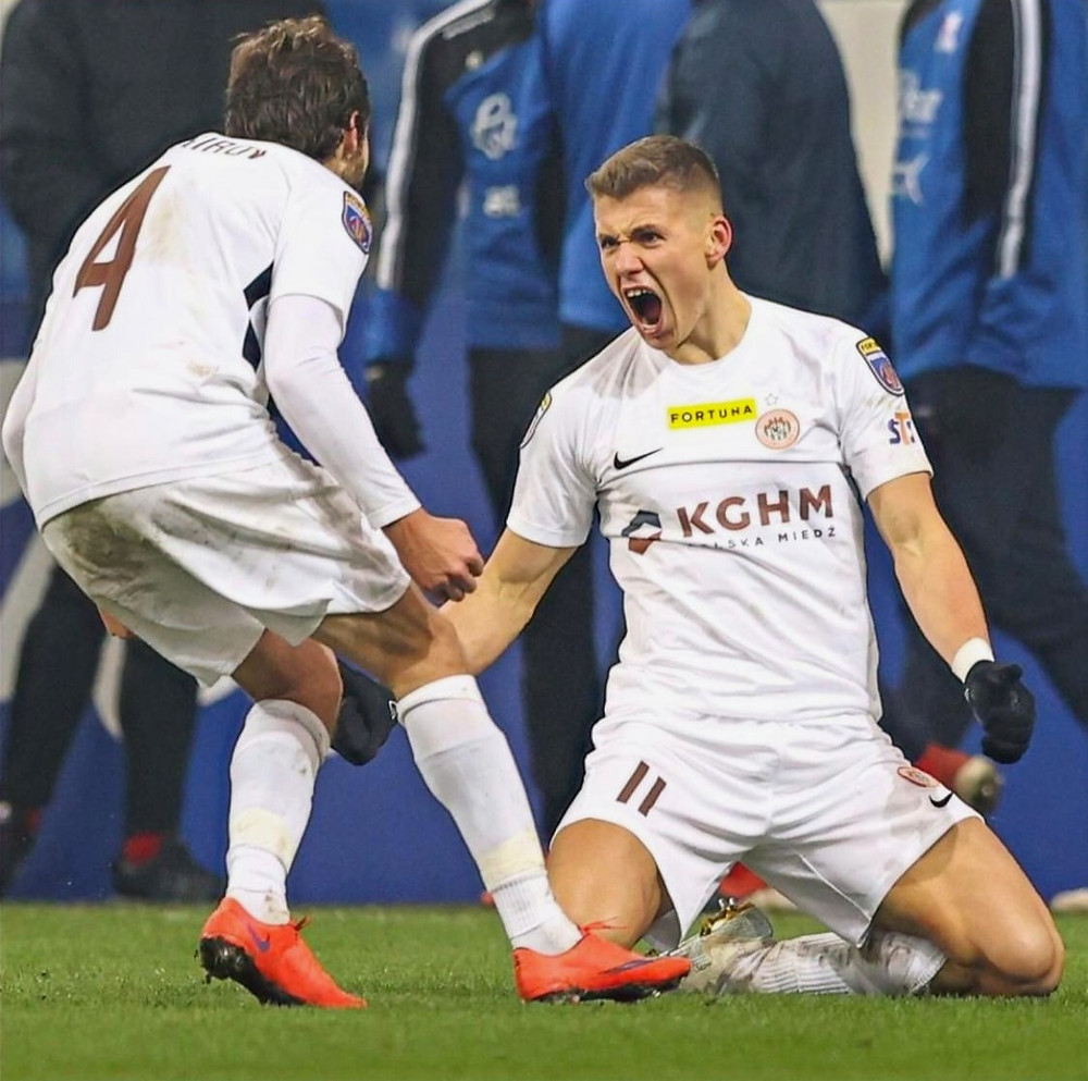 Fotbalový útočník polského Zaglebie Lubin