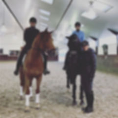 Sara during a training session with Dutch Olympians Coby and Marlies Van Baalen (2017)