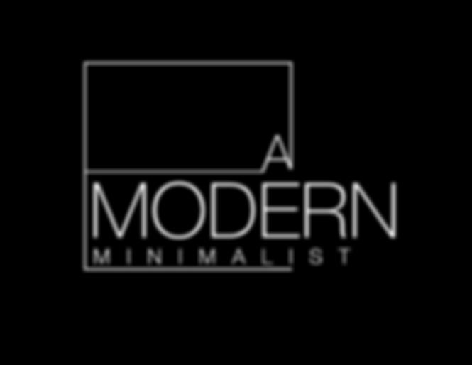 Logo reads A Modern Minimalist