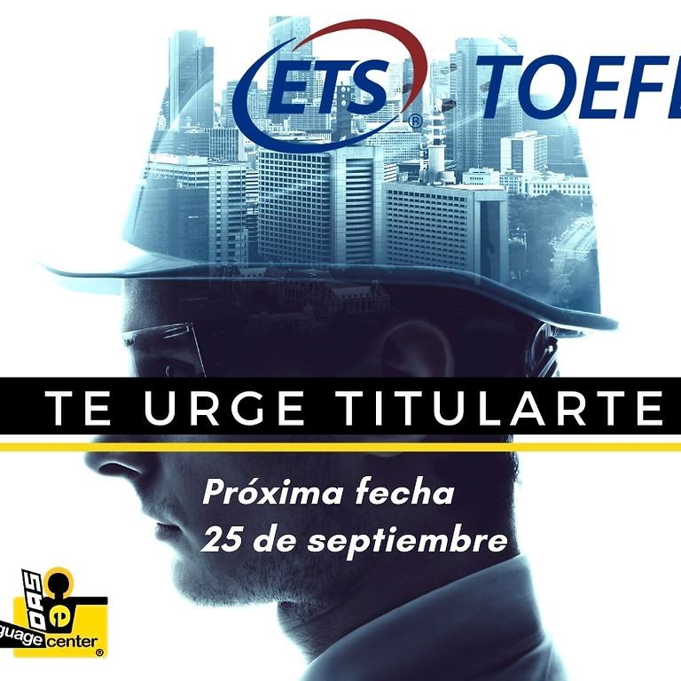 Toefl ITP $980MX-CUPO LLENO