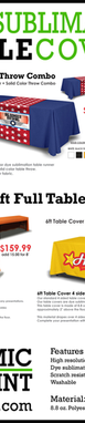 Sublimated Printed Table Cover