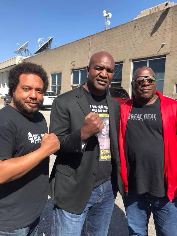 Haven and Jerry with Evander Holyfield