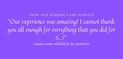 2021 Camp survey Sonya