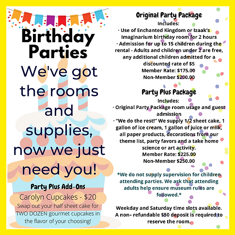 Original Party Package Includes_ · Use o