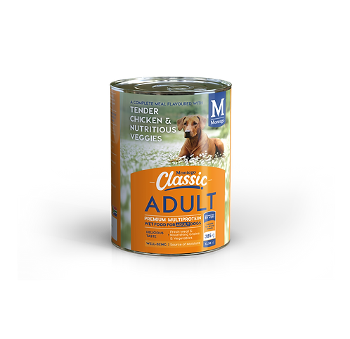 Montego Classic Dog Tender Chicken and Veggies Wet Food