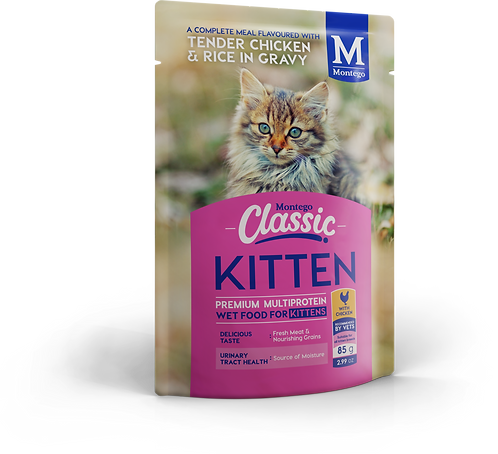 Montego Classic Kitten Wet Food Chicken  Pouch