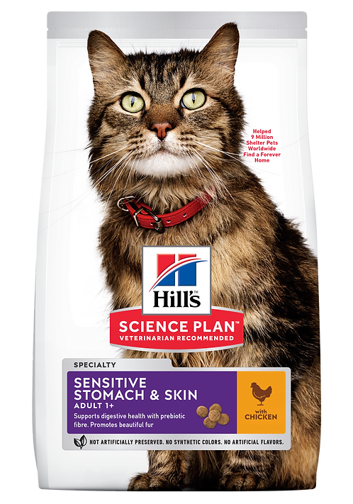 Hill's Science Plan Feline Dry Food Sensitive Stomach & Skin Adult Chicken