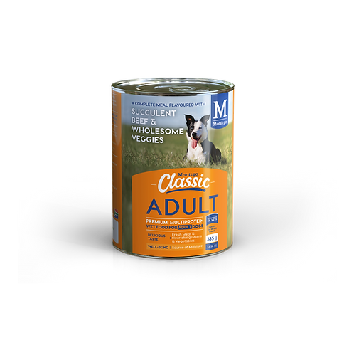 Montego Classic Dog Succulent Beef and Veggies Wet Food