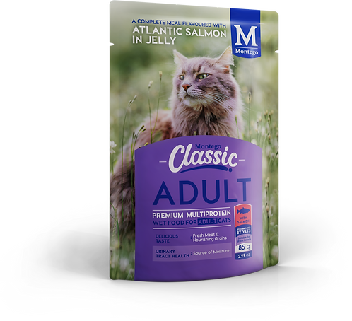 Montego Classic Cat Wet Food Adult Salmon  Pouch