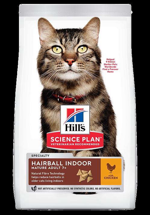 Hill's Science Plan Feline Dry Food Hairball Indoor Mature Adult Chicken