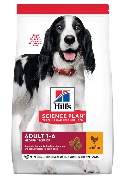 Hill's Science Plan Canine Dry Food Adult Medium Chicken