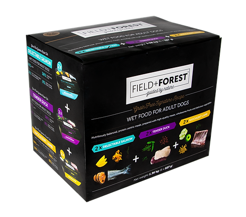 Field & Forest Adult 6 Multipack Wet Food Tubs