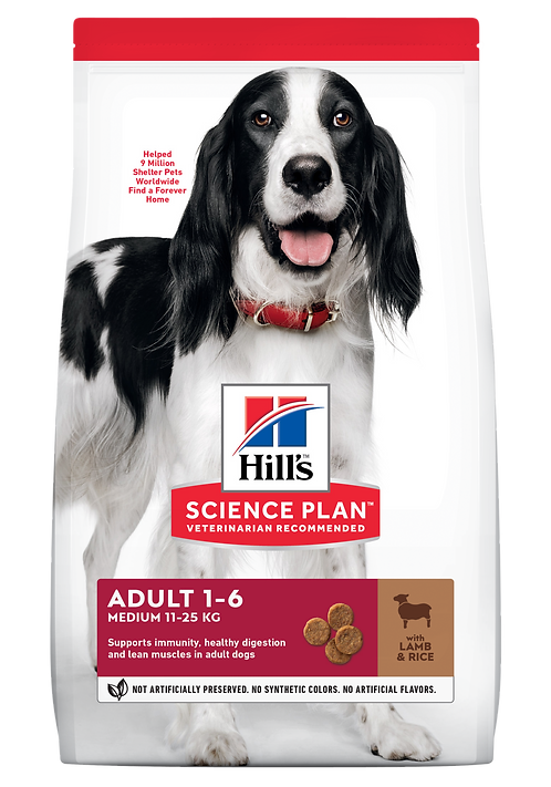 Hill's Science Plan Canine Dry Food Adult Medium Lamb & Rice