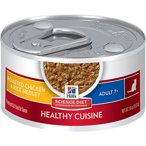 Hill's Science Plan Feline Wet Food Mature Adult Chicken & Rice Stew Can