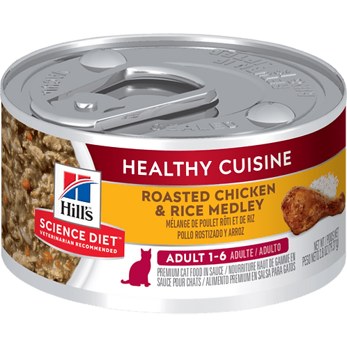 Hill's Science Plan Feline Wet Food Adult Chicken & Rice Stew Can
