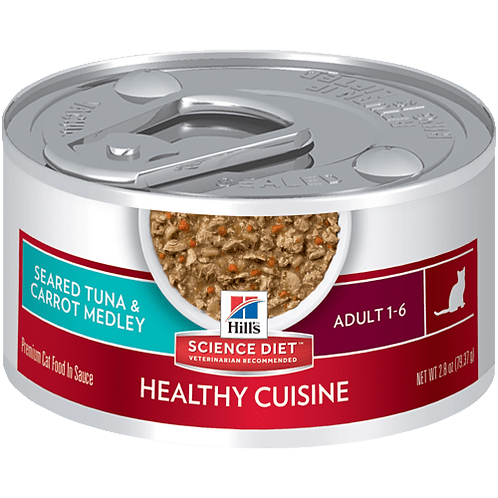 Hill's Science Plan Feline Wet Food Adult Tuna & Carrot Stew Can