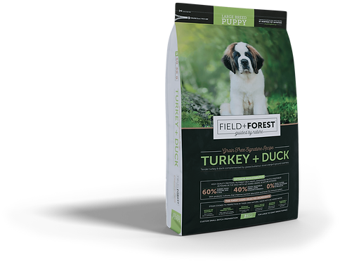 Field & Forest Turkey + Duck Large Breed Puppy