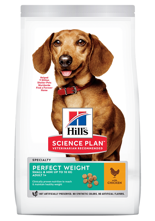 Hill's Science Plan Canine Dry Food Perfect Weight Small & Mini Chicken
