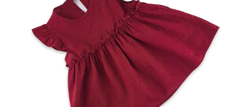 LILY DRESS -BURGUNDY