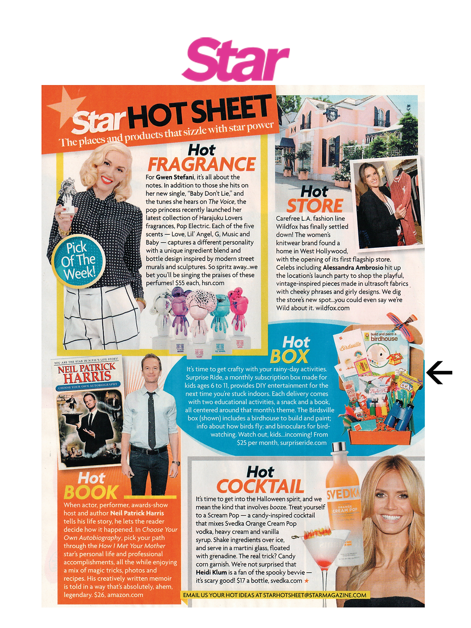 Star Magazine Hot Sheet