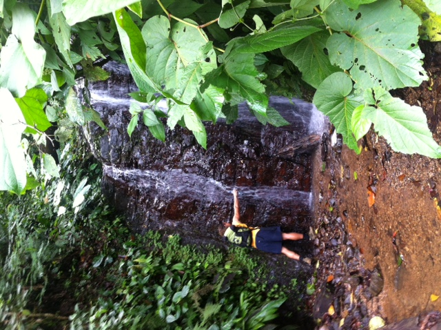 Clean waterfall drinking water