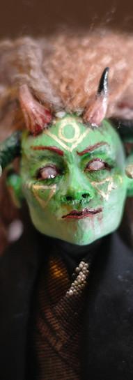 Art doll, sculpted face