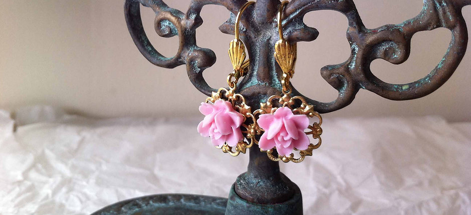Rose Shaped Earrings